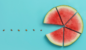 Watermelon image used as part of page design