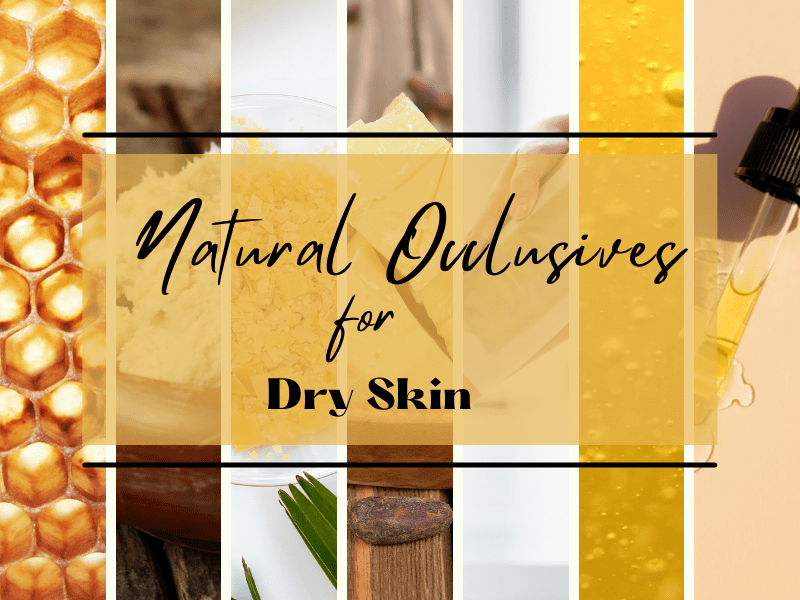 Natural occlusives for dry skin